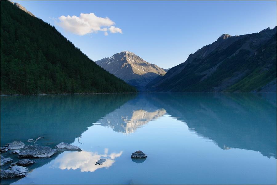 Алтай, озеро Кучерлинское, вечер