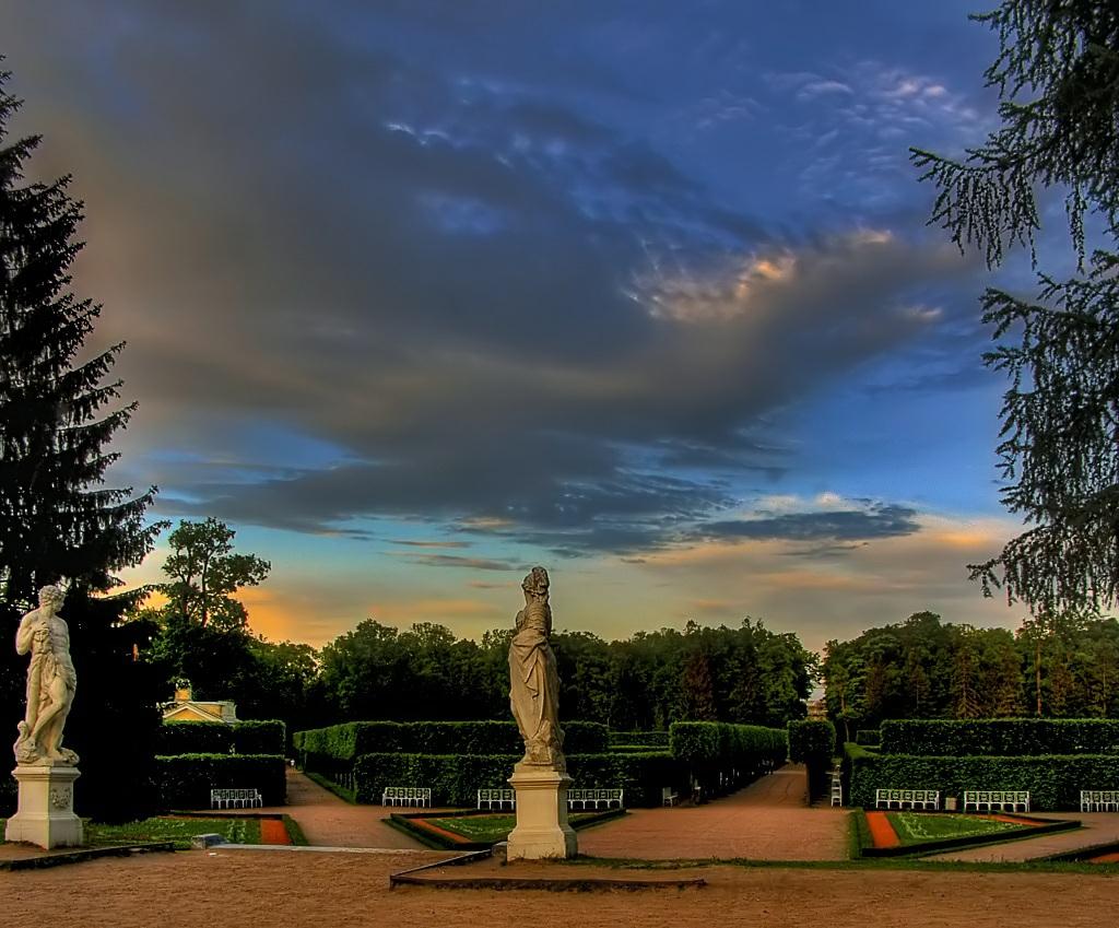 пейзаж, пейзажи, Питер, Петербург, парк, Пушкин, Царское Село, вечер, июнь, лето, закат