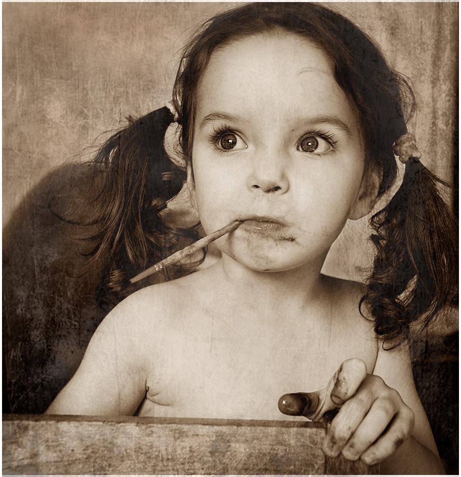 портрет, девочка, ребенок