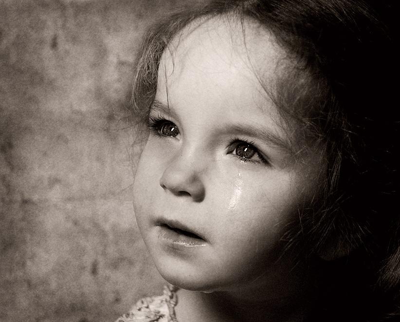 портрет, девочка, ребенок, обида, слезы