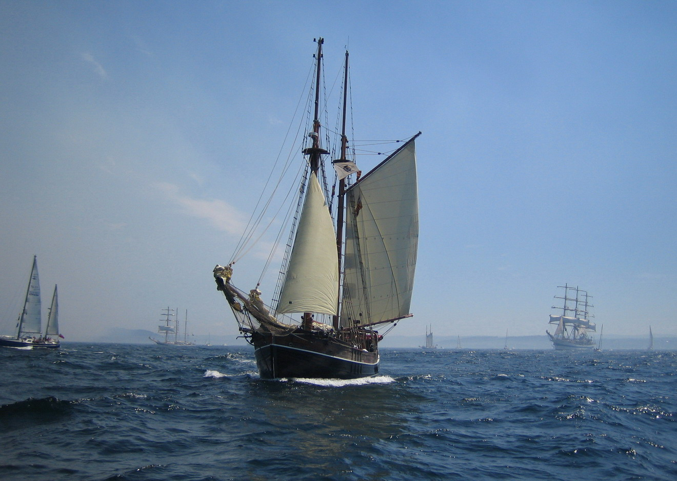 море,яхта,SPARTA,Мир,Ла-Корунья,The Tall Ships' Races,Cutty Sark