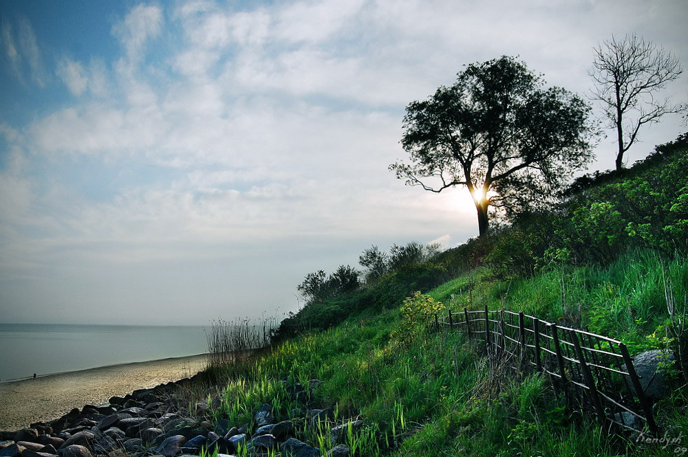 Балтийское море Зеленоградск Утро