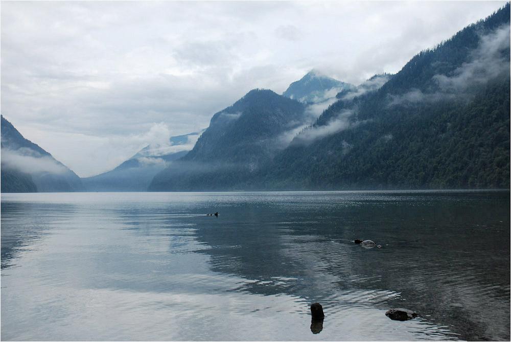 Горы,облака и туман...Вода,камни и птицы...