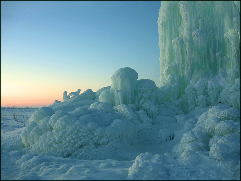 Закат, -25 мороза