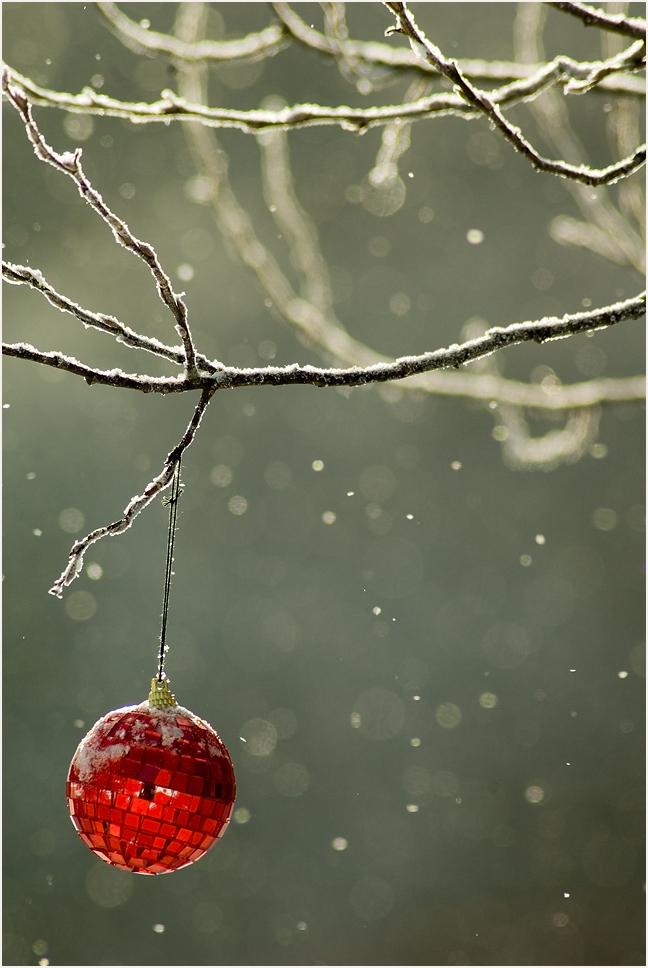 снег, шарик, этюд