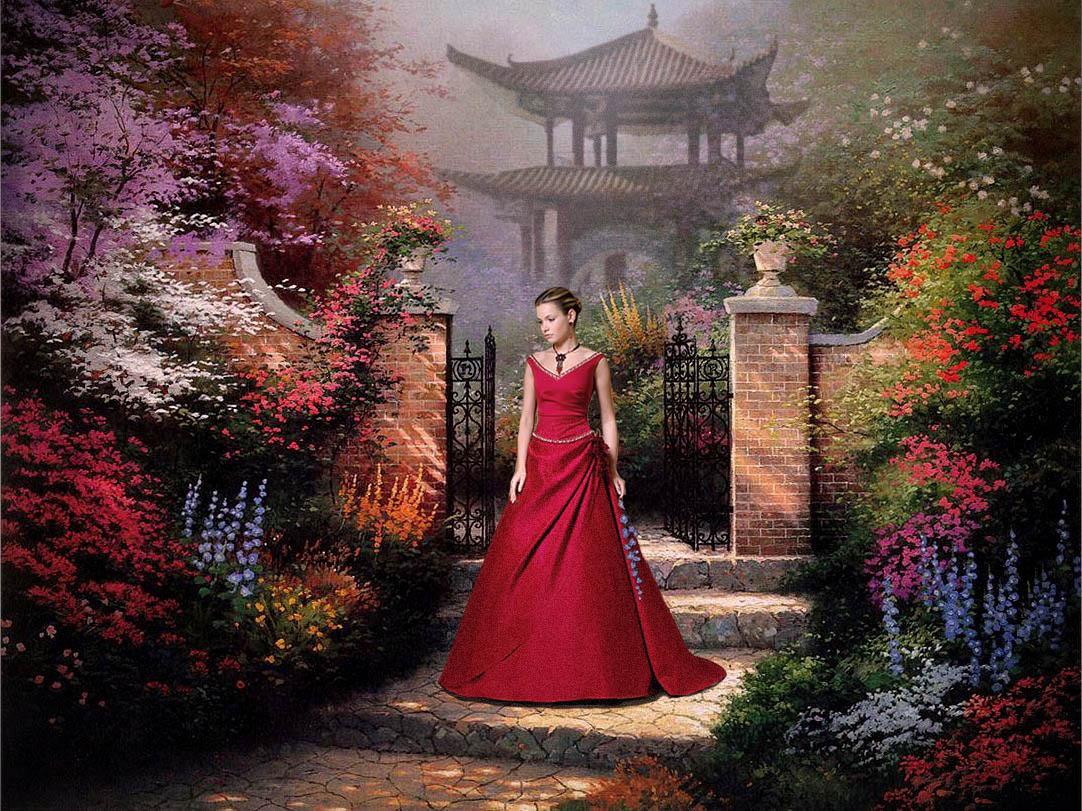 Как неразгаданная тайна,Святая прелесть дышит в ней.Мы смотрим с добрым ожиданьемНа тихий свет ее очей.Земное ль в ней очарованье,Иль неземная благодать?Душа открылась ей признаньем,И сердце рвется обожать...