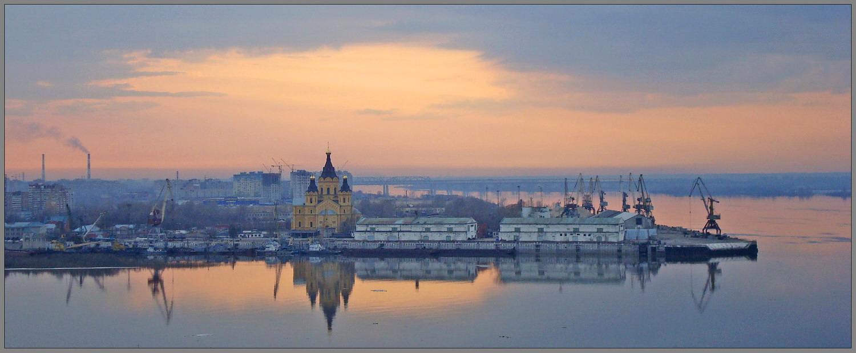 Н.Новгород. Собор св. А.Невского. Стрелка.