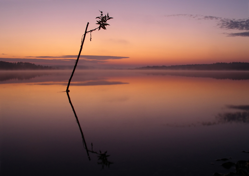 5:00 Крутцы,  Рассвет на озере,Камера Pentax,