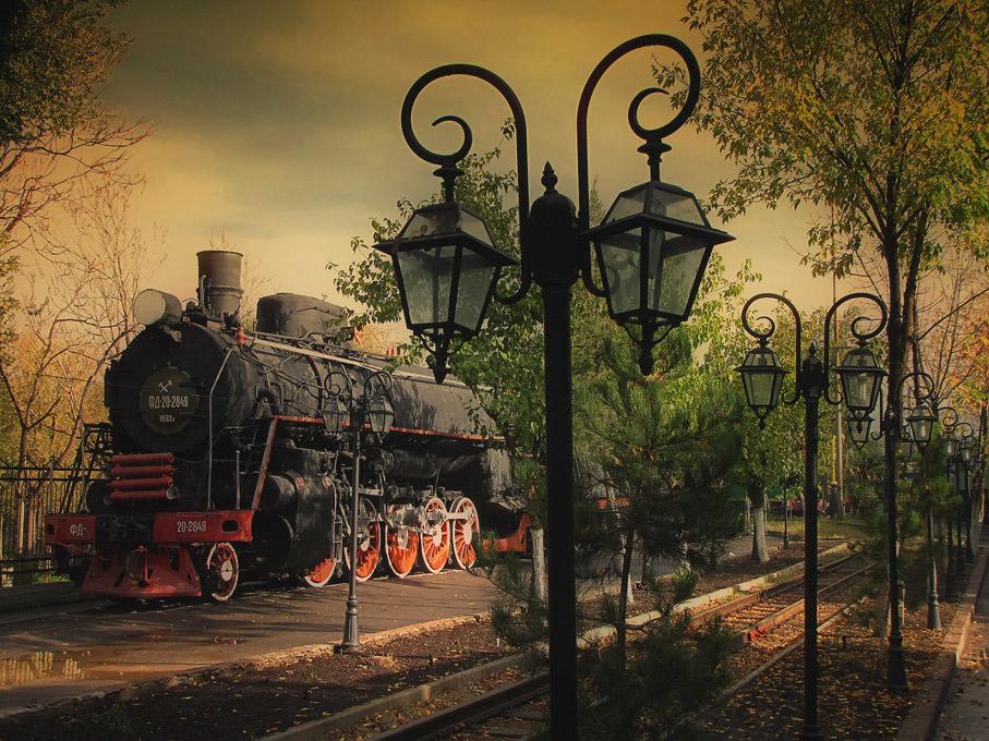 Музей паровозов в г.Ташкенте