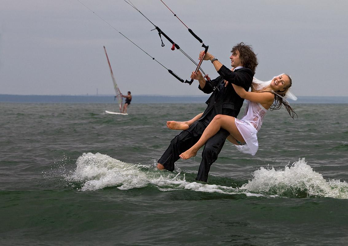 свадебное,обское море,Бумеранг, Александр и Мила Палехины