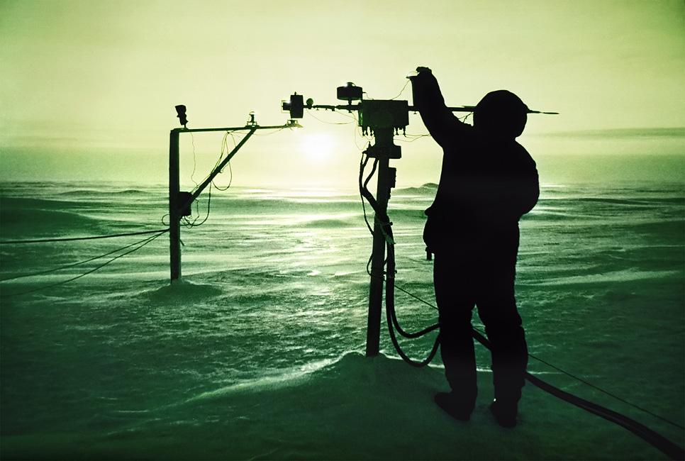 мониторинг солнечной активности, дрейфующая станция Северный Полюс 28, 1986г.
