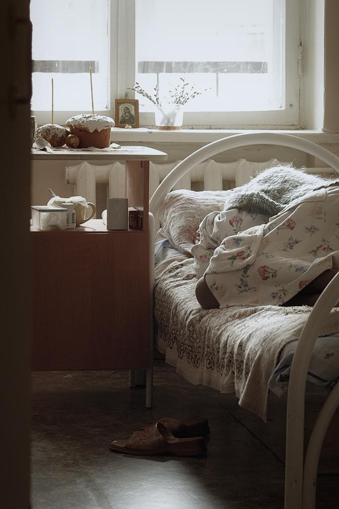 Владивосток .Дом интернат для инвалидов. Пасха