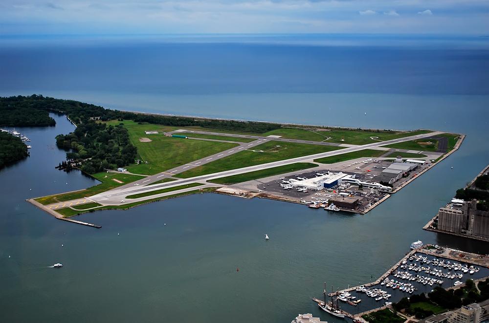 Аэропорт Торонто Айлендпутешествия,пейзаж,канада,торонто