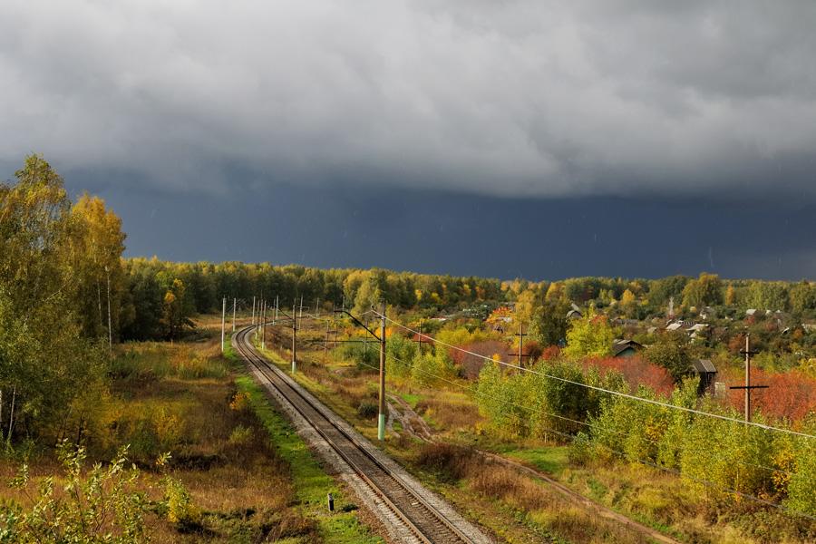 Рязанская область, надвигающийся атмосферный фронт.