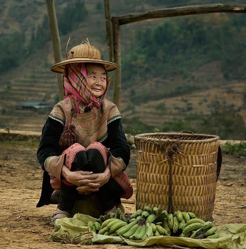 Северный  Вьетнам.Высокогорный рынок в местечке Бак Ха.
