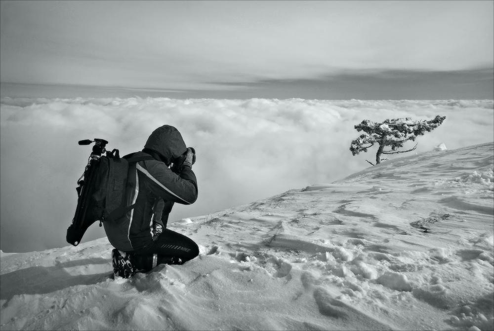 Ай-петри зима крым облака снег февраль
