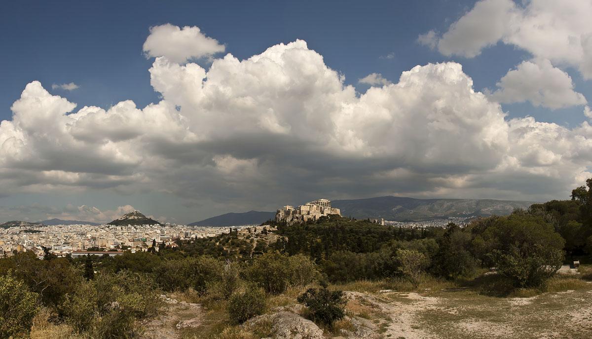 Вид на Акрополь и гору Лекавитос. Греция.Это моя 100-я фотография :)))))