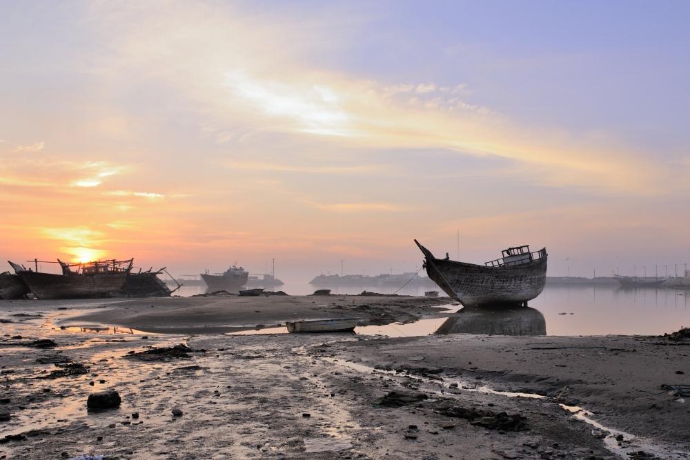 Персидский залив, утро, отлив