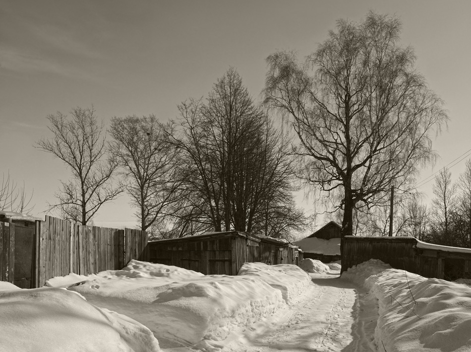 Тверская область,село Никольское,что рядом с Тверью.Февраль 2013.