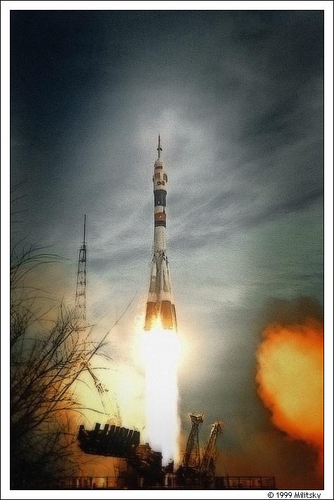 Фото из архива. До ракеты метров 70-80, ощущение на всю жизнь.