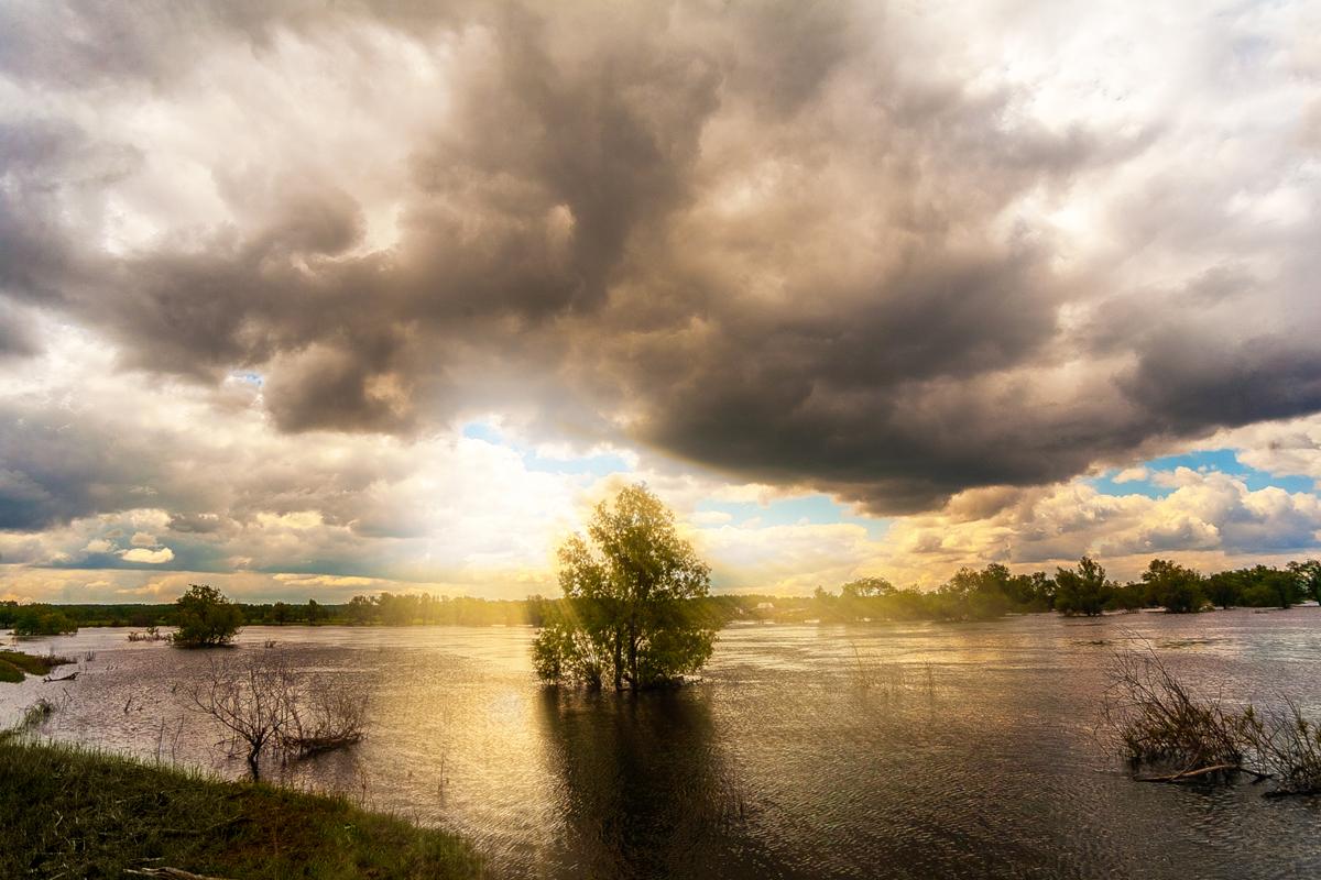 Река Ишим тюменской области.Конец мая 2014 года.