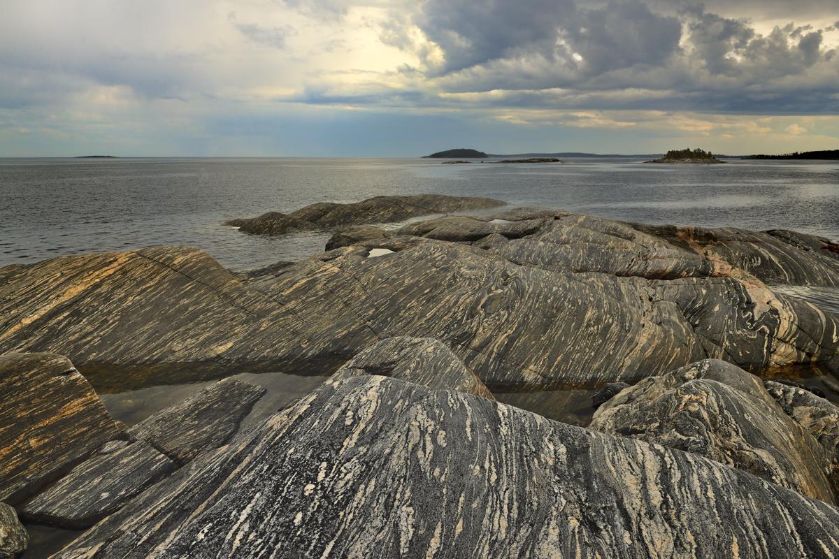 Карелия. Белое море. Нильмо губа. Вид с острова Кастьян