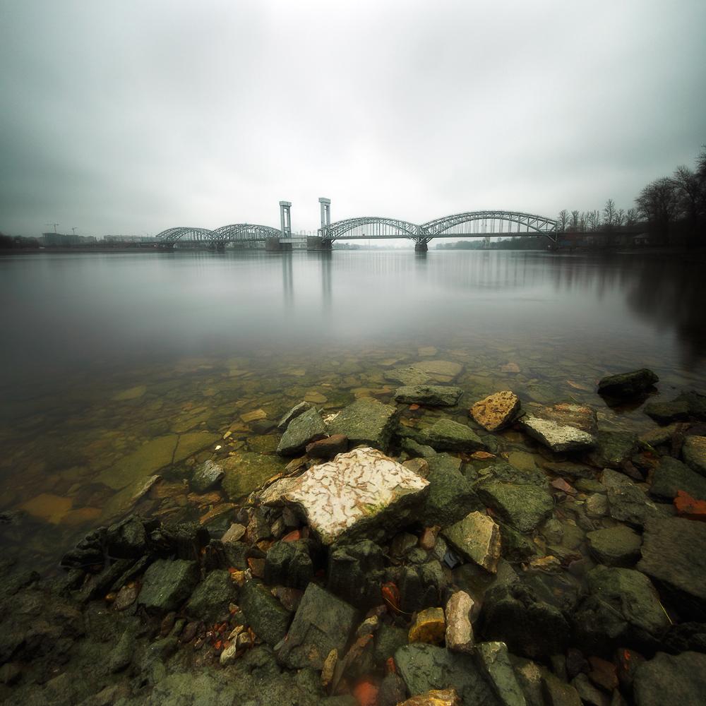 Финляндский ж/д мост. Петербург.