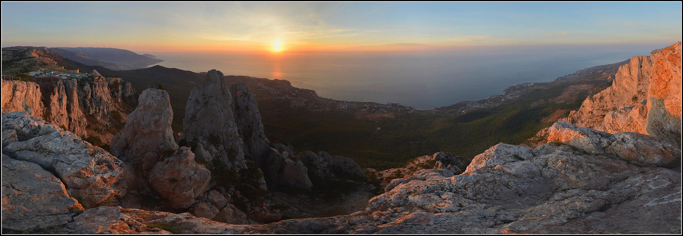 Крым, утро, солнце, море, г.Ай-Петри