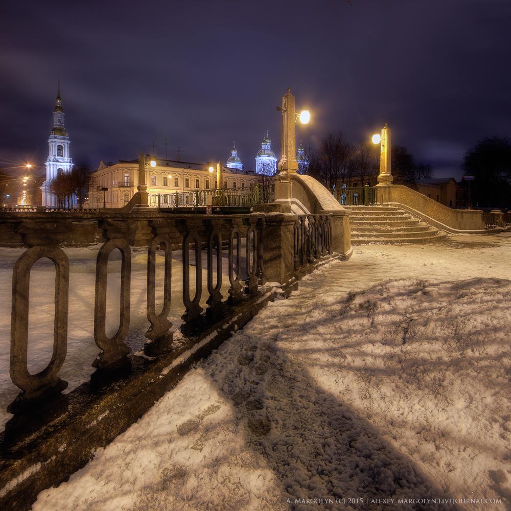 Красногвардейский пешеходный мост, Петербург.