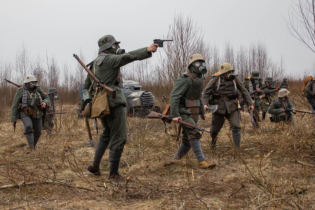 Военно-историческая реконструкция Операция Михаэль 1918 год.