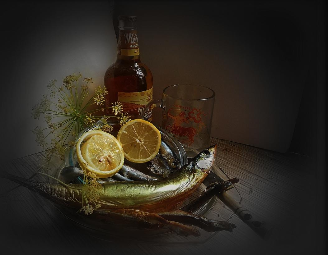 ужин с сайрой и лимоном