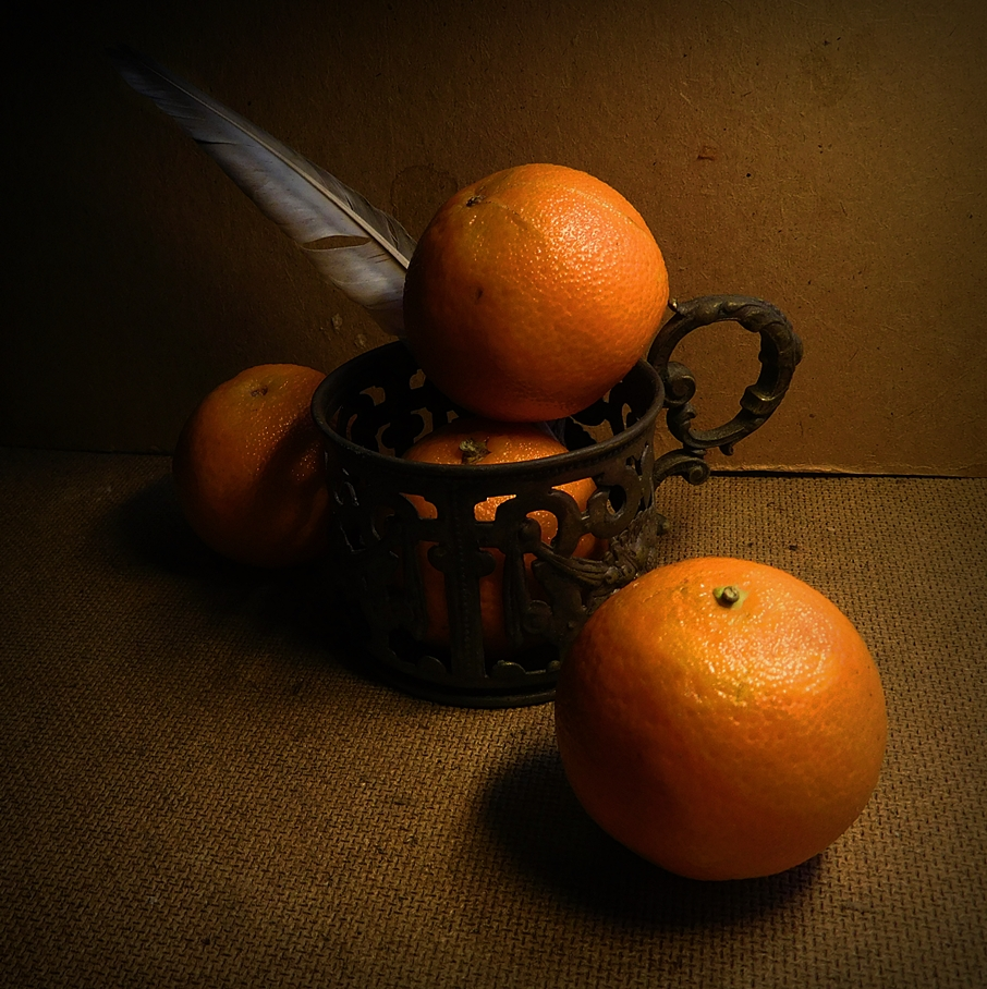 мандарины с перышком
