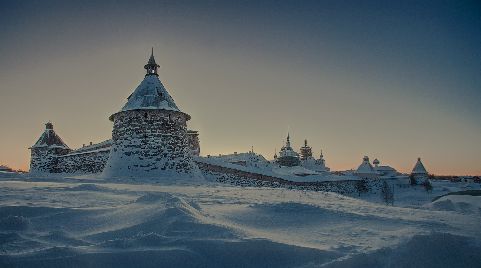 Соловецкий монастырь, начало февраля 2015г.