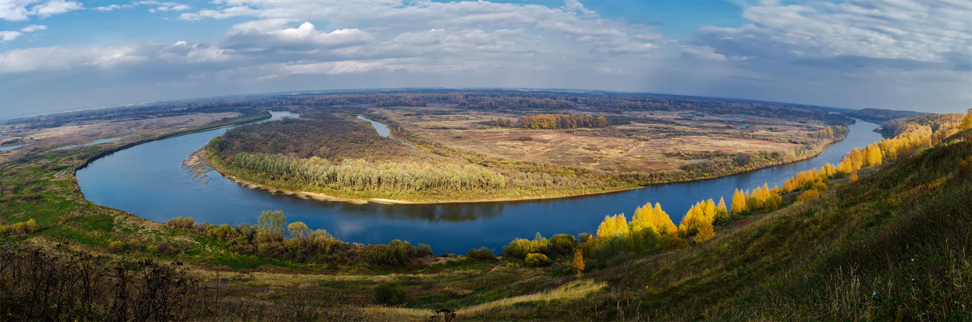 Владимирская область. г.Вязники, река Клязьма. Панорама