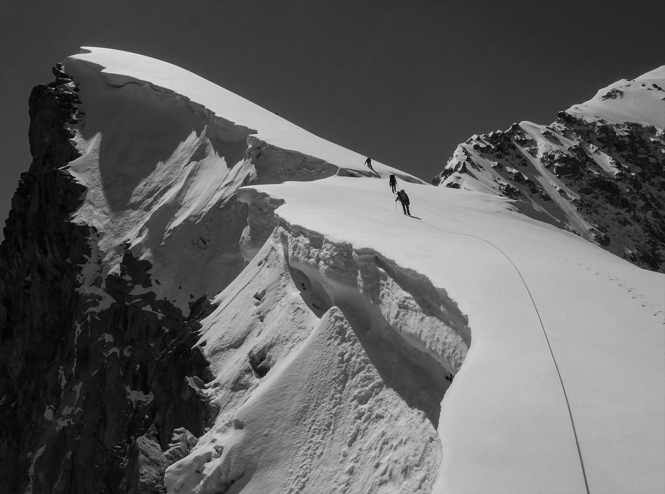 на подходе к вершине Коштантау (5150м), Безенги, Балкария...