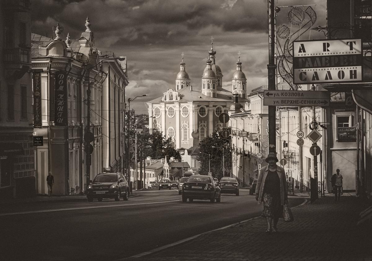 Про вечерний свет, Успенский собор и персонаж с торчащим из головы столбом :)