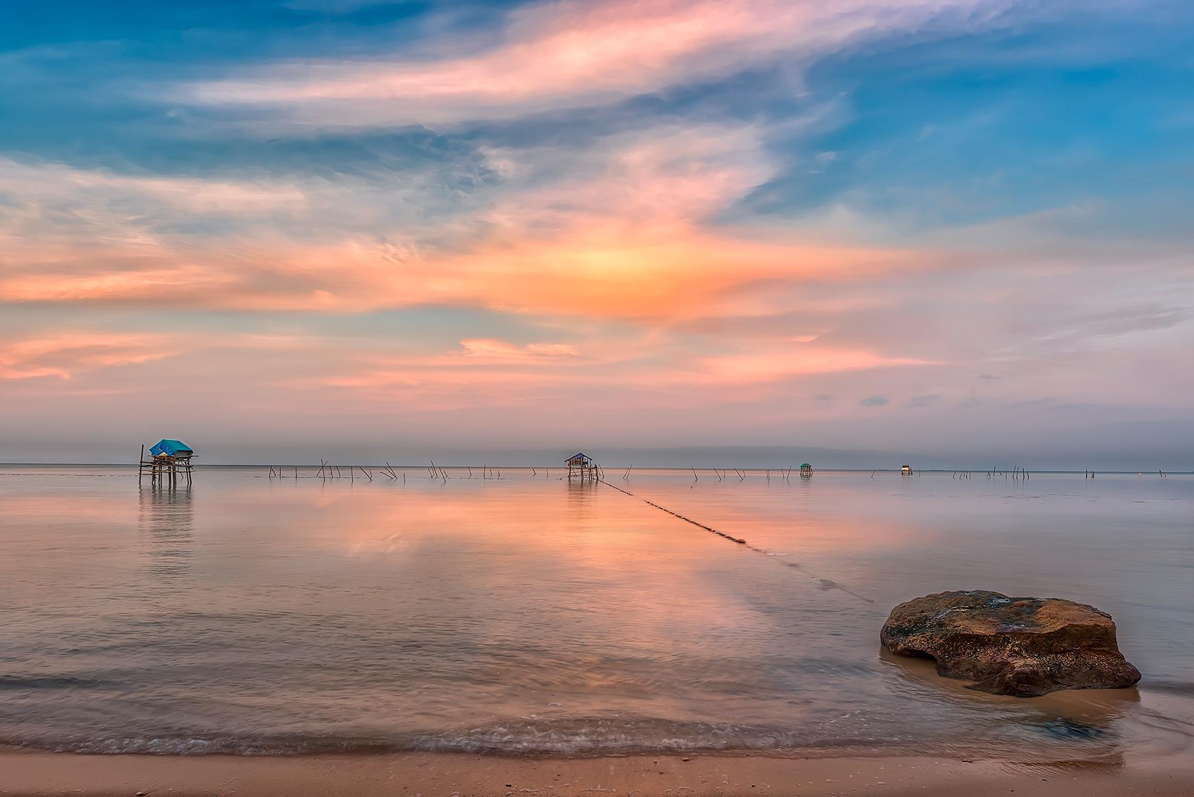 Остров Фукуок Вьетнам январь 2017.морской,пейзаж,путешествия,вьетнам,закат,