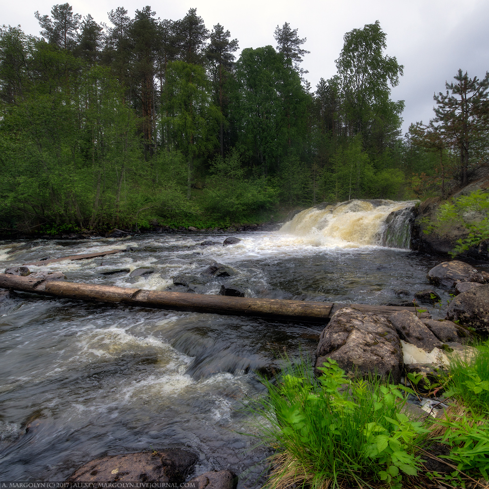Водопад Падун, Карелия.