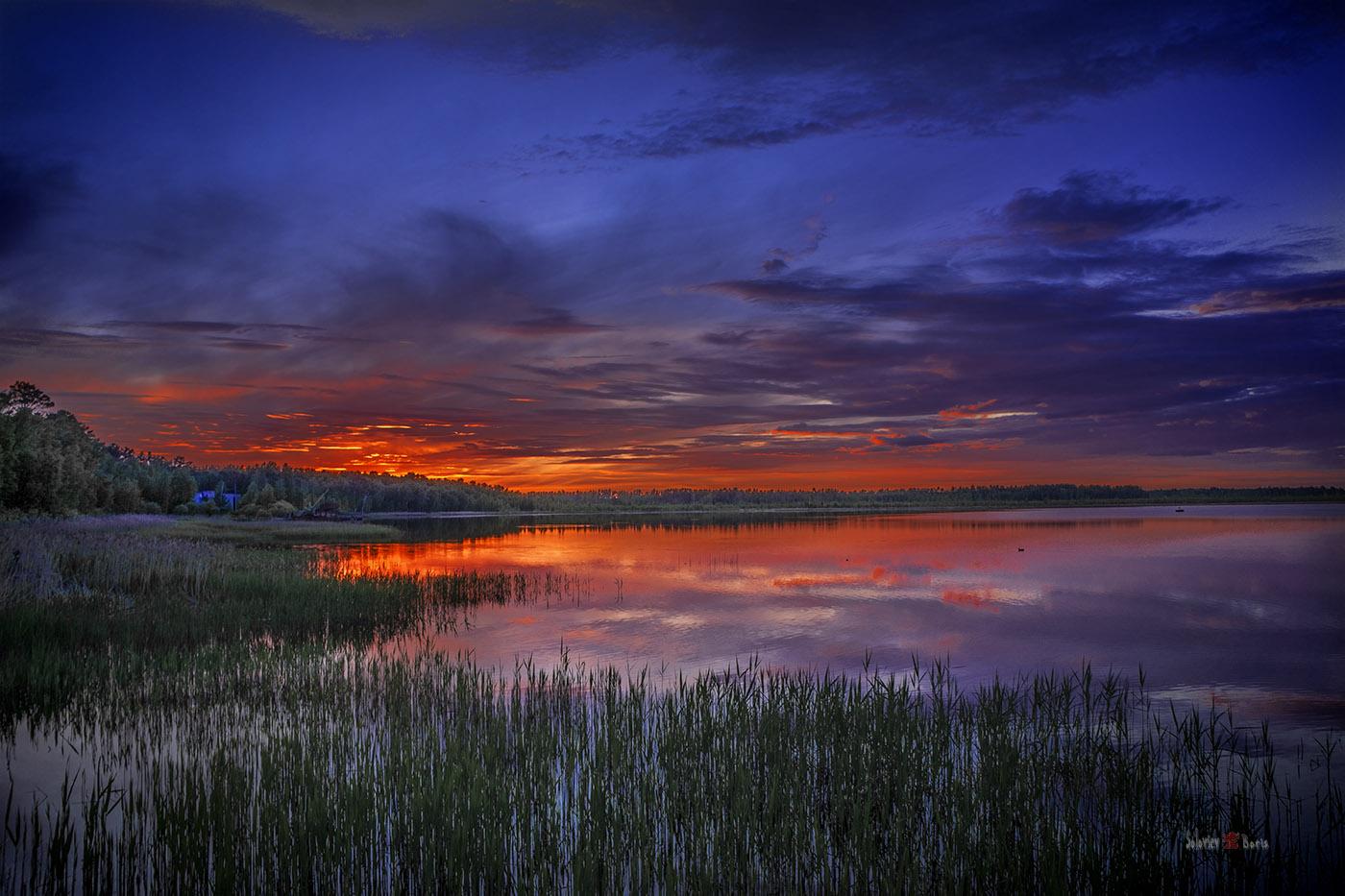 Озера Тараскуль в Тюменской области. Вечерний пейзаж. Снято на SONY NEX7