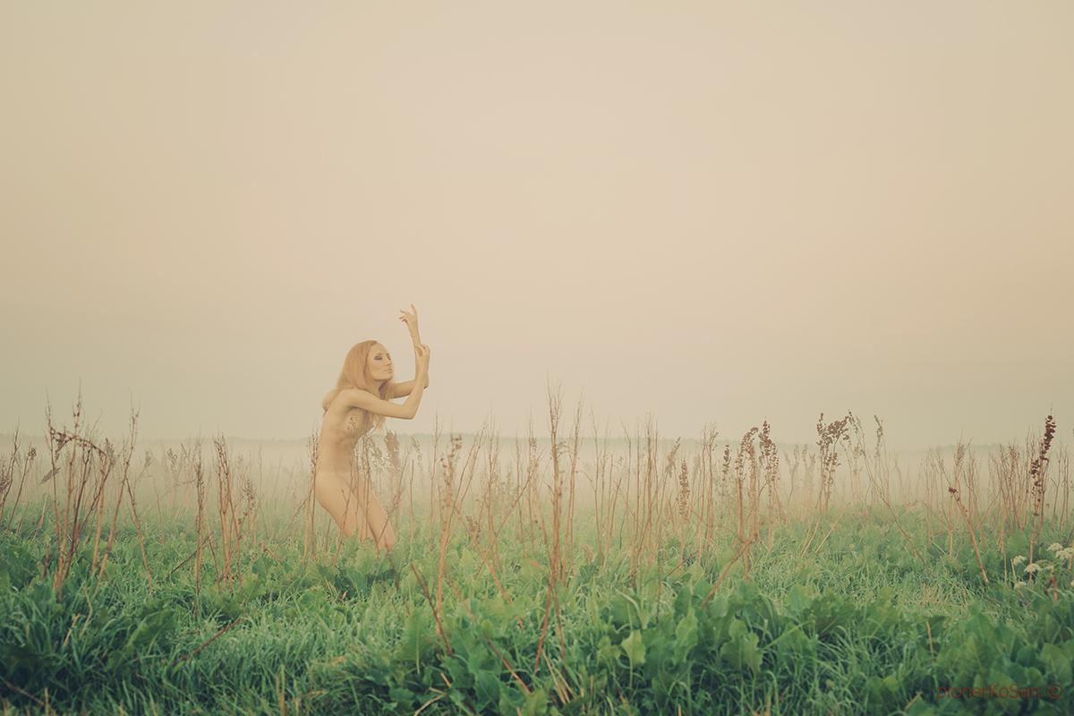 утор туман обнаженная девушка настроение