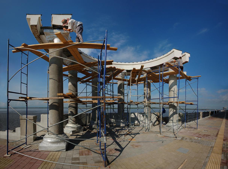 Реконструкция набережной Амура у Хабаровска