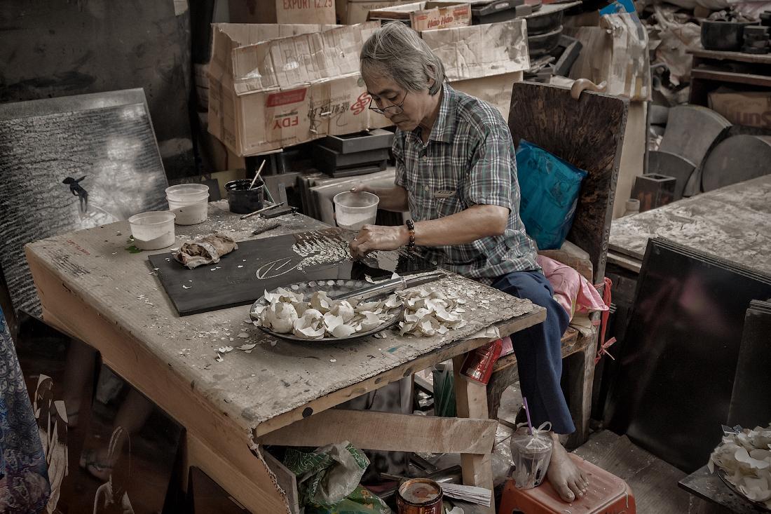 Картины из яичной скорлупы. Вьетнам