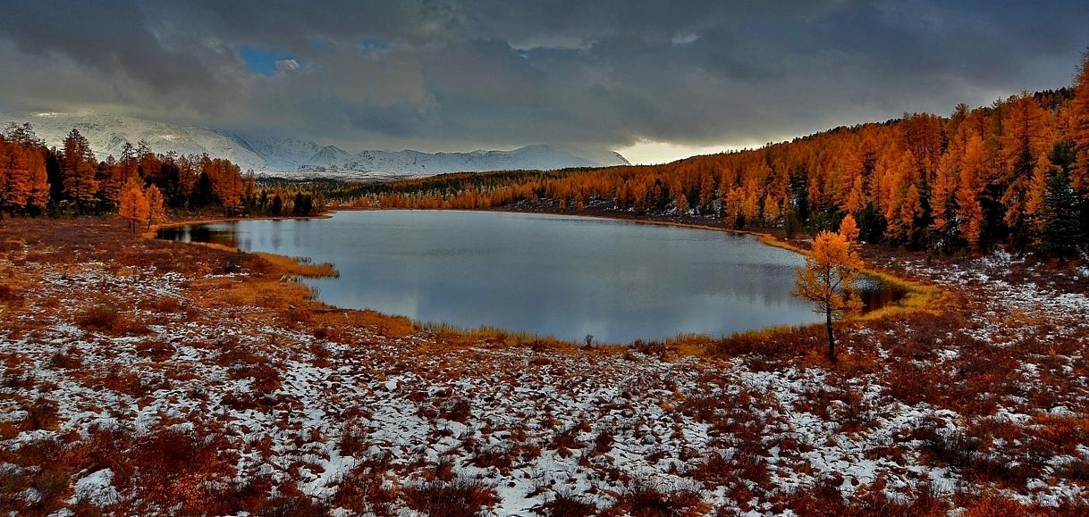 Снова осень закружила карусель мелодий..23.09.17. За мгновения до снежного заряда.