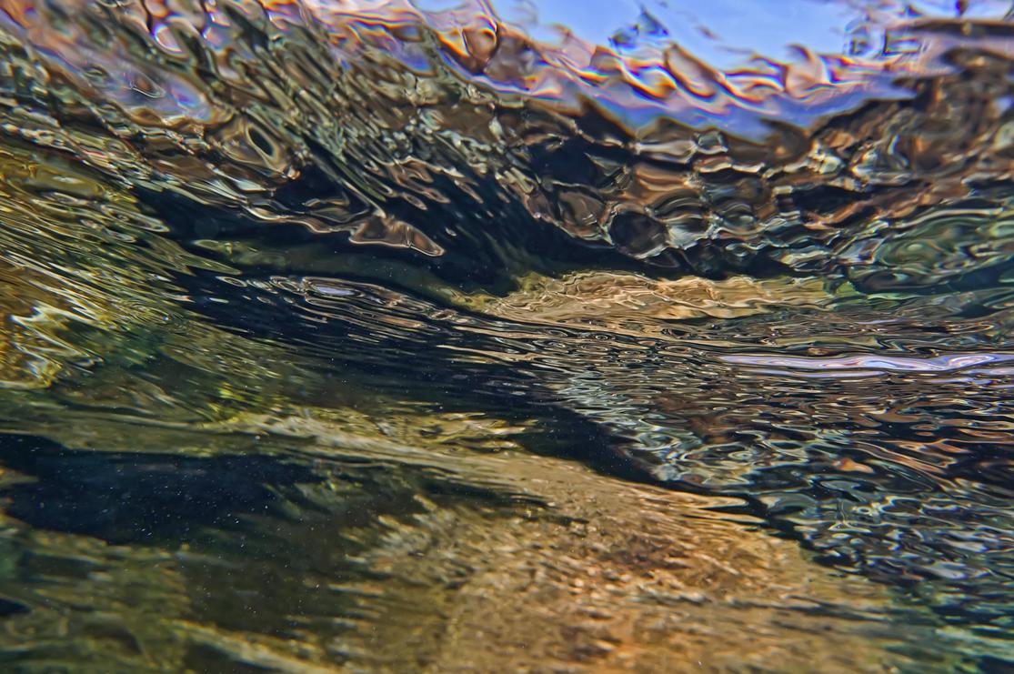 Снято непосредственно из воды на внутреннюю поверхность моря.Красное море