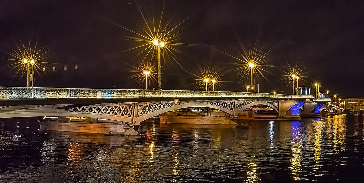 благовещенский мост питер фонари
