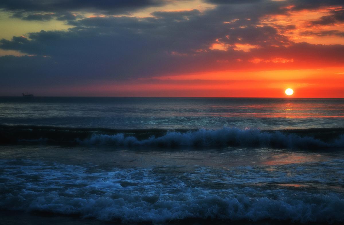 Балтийское море,закат,Зеленоградск