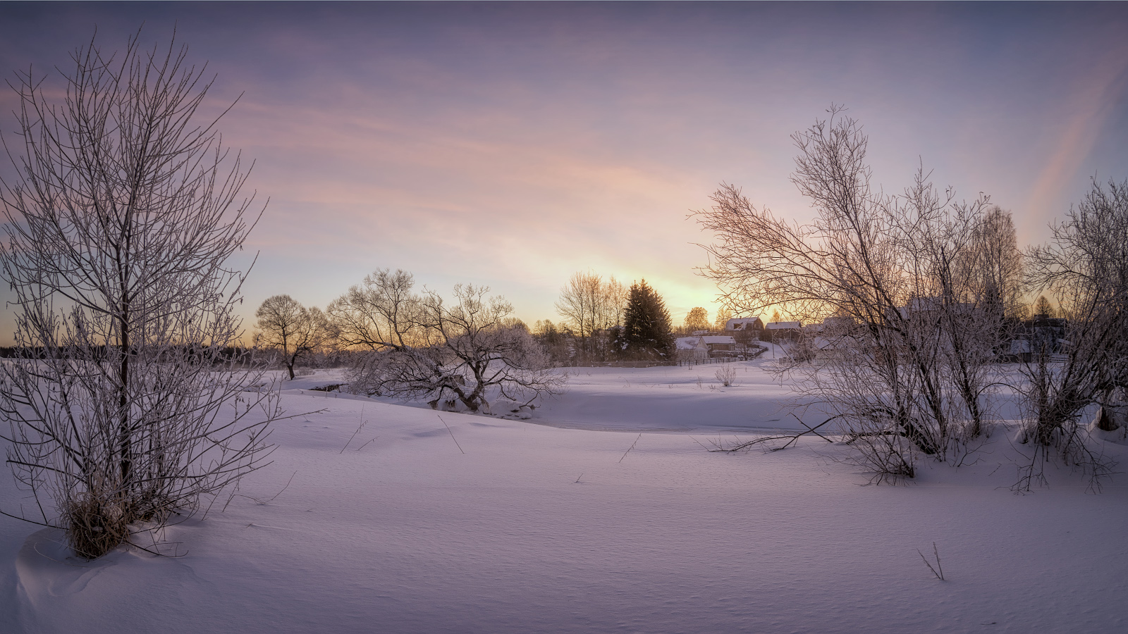 зима, март, утро