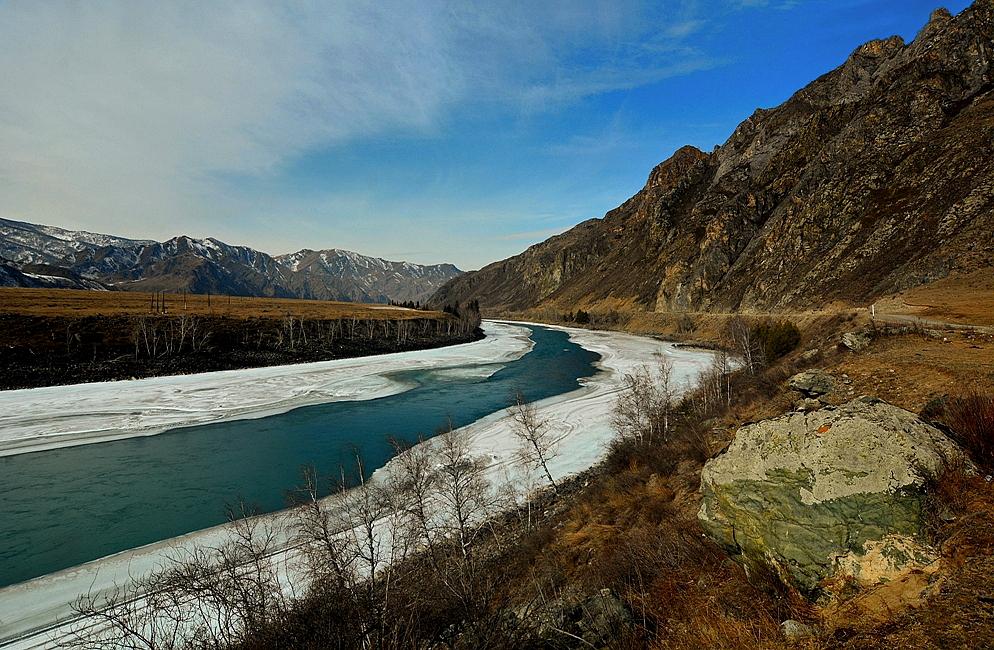 Катунские берега 9 марта.Алтай-18.