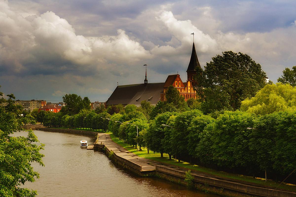 природа,город,Калининград,река,Преголя