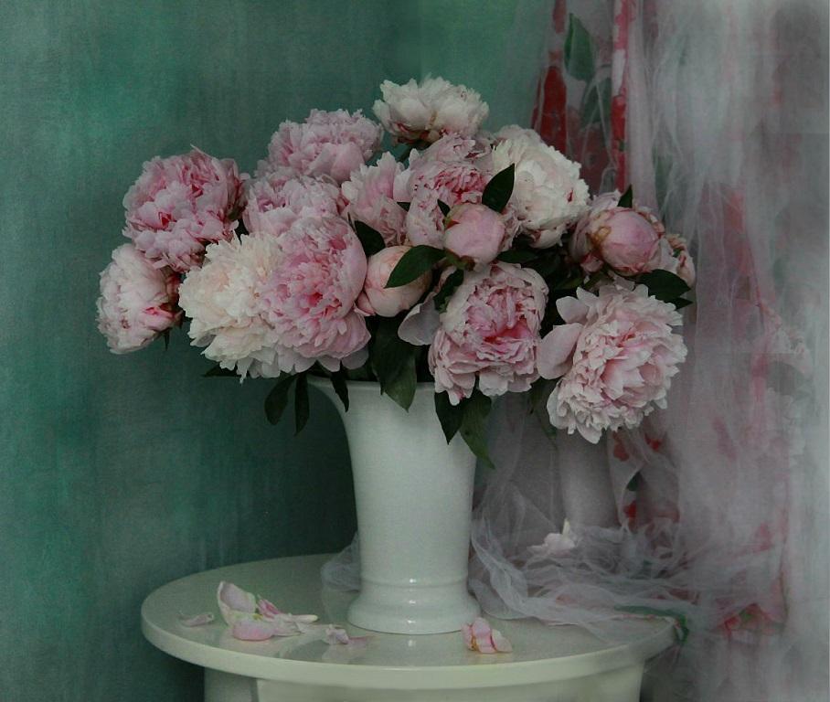 Красив любви подаренный букет,душевных чувств чудесное посланье...Нежней цветов во всей вселенной нет,пион хранит любви благоуханье...